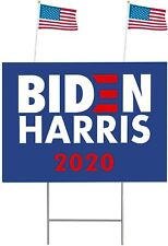 "Lapogy Biden/Harris for President 2020 Yard Signs with H-Frames 12""x 18"" blue"