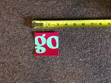 """Patagonia Go Sticker/Decal Outdoor Black Hole Luggage Pink Teal Approx 2.75"""""""