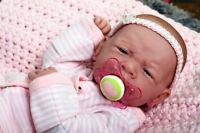 MY DREAM BABY GIRL !!BERENGUER PREEMIE LIFELIKE REBORN DOLL W PACIFIER,BOTTLE
