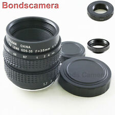 "35mm F/1.7 2/3"" C mount CCTV lens for Pentax Q P/Q Interchangeable Camera macro"