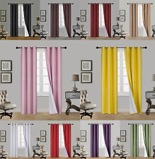 1 Set Eclipse 100% Blackout Window Curtain Panel Lined Insulated Thermal NOA