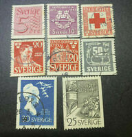 SWEDISH SWEDEN STAMP MIXTURE USED STAMPS COLLECTION LOT SETS GROUP COLLECTIBLE