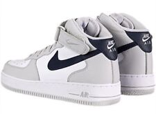 NIKE SPORTSWEAR AIR FORCE 1 MID 07 GRAY WHITE MENS BASKETBALL SHOES SIZE 12
