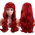 Cosplay Anime Women Wig Long Front Black Gray Gradient Full Wig Straight Hair