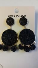 River Island Black Beaded Earrings