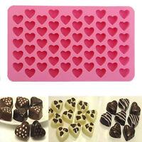 Cute 55 Mini Heart Shape Silicone Ice Cube Fondant Chocolate Tray Mold Mould