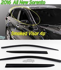 Smoked Window Visor Sun Rain Vent Guard Black K901-144 for KIA Sorento 2016~19