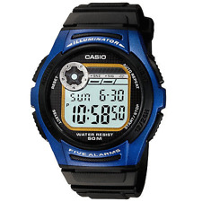 SUPER LED Casio multisport watch CRONOGRAPH cool BLUE 5 alarms snooze doble hour