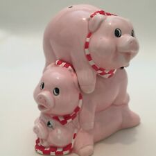 STACKING PIGS / PIG SALT & PEPPER SHAKERS CERAMIC PAPEL