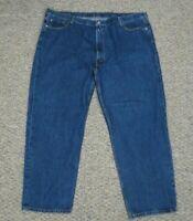 Levis 550 Blue Denim Jeans Relaxed Fit Pants Mens Size 52x32
