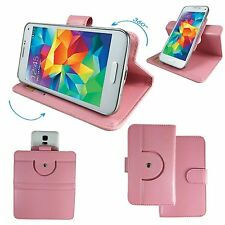 Mobile Phone Cover Book Case For Panasonic Eluga Ray - Pink M