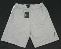 Nike Men's CJ9466-091 Air Jordan HBR Fleece Basketball Shorts Gray