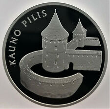 """Lithuanian SILVER coin 50 LT """"Coin dedicated to Kaunas Castle"""" 2008"""