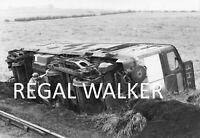 BRITISH RAIL RAILWAY DIESEL PHOTO 1960'S - SULZER TYPE 2 D5153 DERAILED AUG 1967