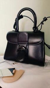 Authentic Delvaux Brilliant Bag Black Colour Size Small