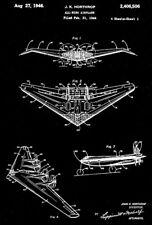 1946 - Northrop All-Wing Airplane - J. K. Northrop - Patent Art Poster