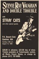 STEVIE RAY VAUGHAN 1989 IN STEP TOUR ORIGINAL CONCERT POSTER / STRAY CATS