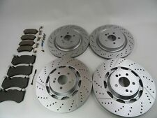 Mercedes Benz S63 S65 Amg front rear brake pads and rotors #496 TopEuro