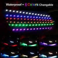12 X Waterproof 12''/15 Motor LED Strip DC12V Underbody Light For Car Motorcycle