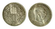 pcc1840_82) Franz Joseph I 1 Korona 1915 AG Toned