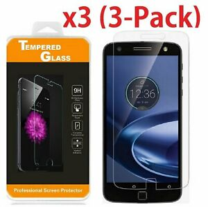 Premium Tempered Glass Screen Protector Film for Motorola Moto Z Force Droid