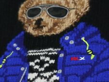 RALPH LAUREN RLX POLO BEAR MOCKNECK/ZIPPERED INTARSIA KNIT SWEATER / SOLD OUT!!!