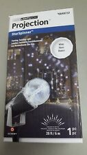 CHRISTMAS /  HOLIDAY Lighting LED Projection StarSpinner W/ Remote! White