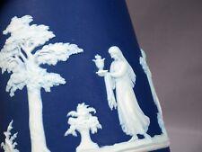Wedgwood 1892 Royal Blue RARE Greek mythology Jasperware Pitcher Jug Large