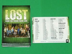 2007 LOST SEASON 3 BASE 90 CARD SET INKWORKS JJ ABRAMS! MATTHEW FOX! ISLAND!