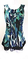 ZAC & RACHEL Size M Blue Teal Green Sleeveless Top Womens MEDIUM NWOT