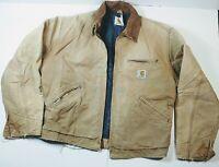 Carhartt Detroit Blanket Vintage Men's  Lined Jacket Duck Brown J01 USA Medium?