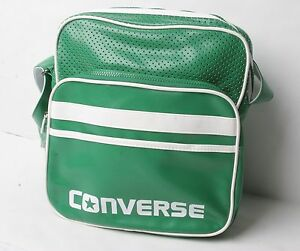 Converse Small Pocketed Reporter Bag (Green White)
