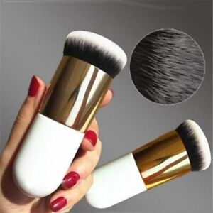 Chubby Foundation Brush Flat Cream Makeup  Professional Cosmetic (Silver Trim)