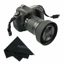 58mm Rubber 3in1 Collapsible Lens Hood for Sony Canon Nikon Pentax+Free Lens Cap