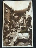 Vintage Postcard - Devon #A22 - RP Clovelly, High Street - New Inn