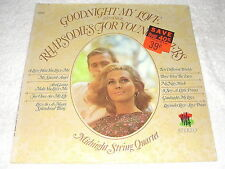 "Midnight String Quartet ""Goodnight My Love-Rhapsodies"" 1969 LP, SEALED!, Stereo"