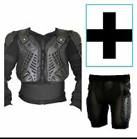 Mens Body Armour Motorcycle Motorbike With Body Armour Protective Shorts