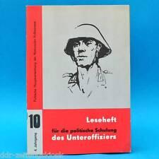 Leseheft für die politische Schulung des Unteroffiziers der NVA Nr. 10/1974 DDR