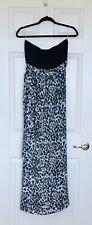 Gorgeous Leopard Print Strapless Maxi Dress W/Tie Sash~Black/Gray~SZ: Medium~NWT
