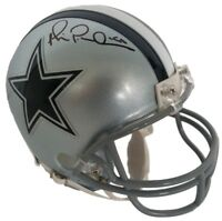 Michael Irvin Signed Dallas Cowboys Riddell Mini Helmet Beckett BAS
