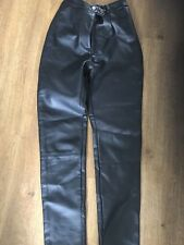 New Look Faux Leather Trousers Size 6