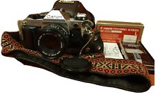 Canon AE-1 Program 35mm Camera with Canon 50mm f/1.8 Lens case focusing screen