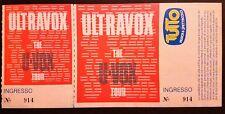 Biglietto Ticket ULTRAVOX Modena Palasport 17.11.1986 Concerto