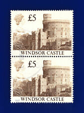 1988 SG1413 £5 Windsor Castle UK4 Pair Good Used ctnu