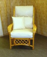FAUX LEATHER REPLACEMENT CHAIR CUSHION COVER SET FOR CANE & RATTAN FURNITURE
