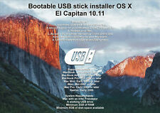 Bootable USB Stick - macOS X El Capitan Full OS Install, Reinstall and Upgrade