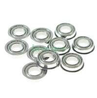 7 x 19 x 6mm F607zz Shielded Flanged Model Ball Flange Bearing  x10