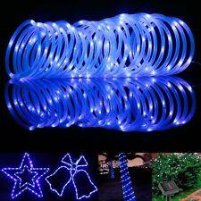 10M /33FT 100 LED Outdoor Solar Rope Tube String Strip Garden Light Waterproof