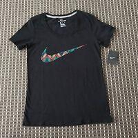 BNT Nike  Women's Black Sports Tshirt Size S RRP$50 100% Cotton