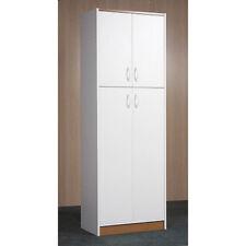 Cabinet Storage Kitchen Organizer Bathroom Wood Pantry White Cupboard Door Tall